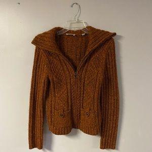 Loft sweater rustic orange brown mix. Size Med